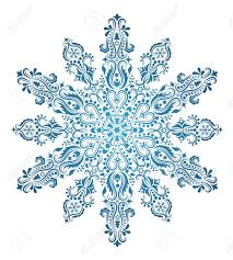 pattern in a shape of a snowflake royalty free cliparts vectors