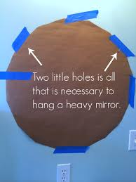 How To Hang A Wall Mirror Tip How To Hang Something Heavy With Minimal Wall Damage Home