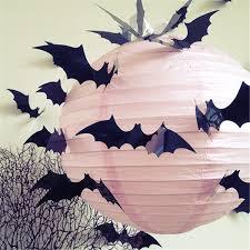 halloween bat wall decals 12pcs halloween 3d black bat wall sticker halloween party home