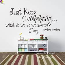 online buy wholesale wall stickers quotes swim from china just keep swimming what swim dory quote wall sticker baby nursery kids