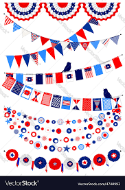 set american decorations royalty free vector image