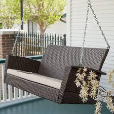furniture endearing wooden black slat porch swing solid wood