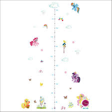 Wall Stickers For Girls Room Grow With Pony Growth Chart Wall Stickers Decals For Girls Room
