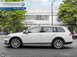 white volkswagen new 2018 volkswagen golf alltrack 4 door car in vancouver bc n062334