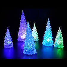 christmas tree shaped lights color changing crystal tree shaped night light holiday tree shape