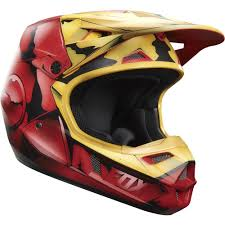 motocross helmets youth fox racing 2016 limited edition youth v1 iron man helmet red