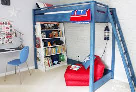 How To Make A Loft Bed With Desk Underneath how to turn a bunk bed into a loft bed