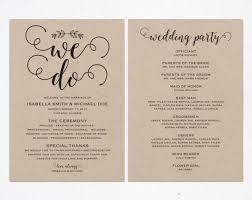 Wedding Party Program Template 25 Melhores Ideias De Wedding Ceremony Program Template No