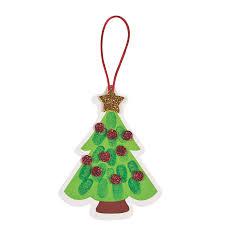thumbprint christmas tree ornament craft kit craft kits
