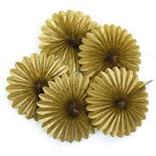 paper fan decorations 5 gold tissue paper fan decorations pipii