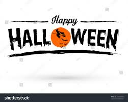 happy halloween text banner vector stock vector 700700599