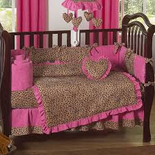 useful pink leopard print crib bedding amazing home decor