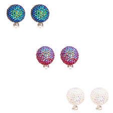 clip on stud earrings mermaid scales oversized dome clip on stud earrings s