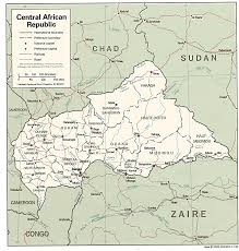 Africa Map Rivers African Studies Center Central African Republic Page