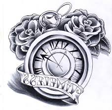 old clock tattoo tattoo collections
