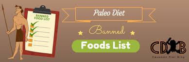 paleo diet banned foods list caveman diet blog