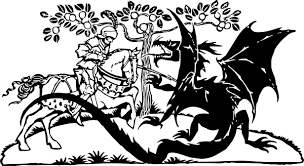 st george and the dragon clip art at clker com vector clip art