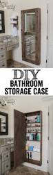 Diy Small Bathroom Storage Ideas by Diy Bathroom Mirror Storage Case Bathroom Organization Wall