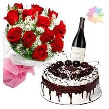 flower cake u0026wine combos
