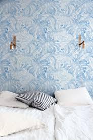 self adhesive wallpaper blue baby blue monstera leaves self adhesive wallpaper palm leaves
