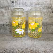 best vintage kitchen canisters glass products on wanelo