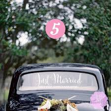 just married next stop happily ever after wedding car window decal