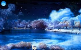 wallpaper desktop winter scenes winter night wallpaper wallpapers browse