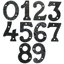 black ornamental house numbers gate extras tate fencing