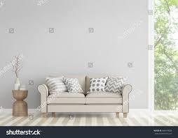 modern vintage living room 3d rendering stock illustration