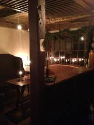 Early American Home Decor Cage Bar Tavern Room At Christmas Take Out Door Between Screen