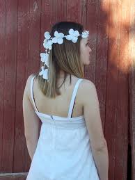 white flower headband white hydrangea flower headband hippie wedding flower halo