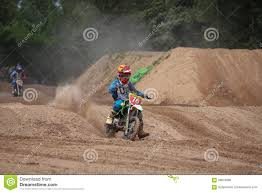 junior motocross racing kids motocross fuse racing thailand 2015 editorial stock photo