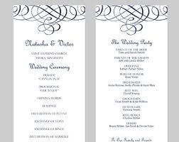 tea length wedding program template tea length wedding program etsy