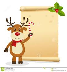 Christmas Invitation Card Christmas Parchment With Reindeer Stock Image Image 35645601
