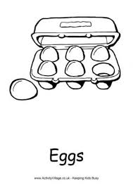 Food And Drink Colouring Pages Egg Colouring Page