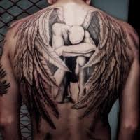 angel tattoos for men what can these tattoo designs indicate