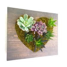 valentines day gift heart succulent cacti vertical garden