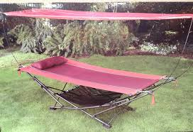 amazon com foldable steel frame hammock with canopy garden