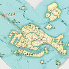 venice map venice map print by bombus the peg notonthehighstreet com