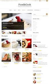 site de recettes de cuisine food cook un thème pour site web de recettes de