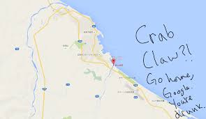 Florida Airport Map That Moment When Google Maps Tells You There U0027s A Crab Claw