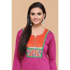 rani pink colour rani pink color cotton silk kurti online andaaz