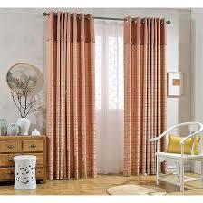 Contemporary Orange Curtains Designs Splendid Geometric Orange Curtains Designs With Geometric Curtains