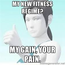 Personal Trainer Meme - wii fitness trainer meme by dribbleondo on deviantart