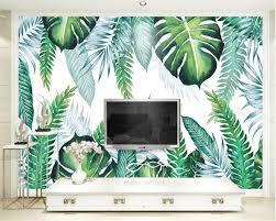 popular tropical wall mural buy cheap tropical wall mural lots beibehang custom wallpaper modern simple hand painted tropical plant leaves tv background wall murals 3d wallpaper