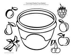fruit salad coloring page with pages best of glum me