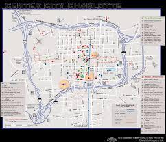 Charlotte Nc Airport Map Charlotte Downtown Map City Center U2022 Mapsof Net
