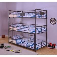Black Bunk Beds Black Metal Casual Industrial Bunk Bed