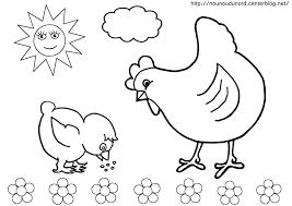 Nos jeux de coloriage Poule à imprimer gratuit  Page 3 of 3