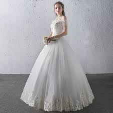 wedding dress korean new wedding dress korean word shoulder was thin